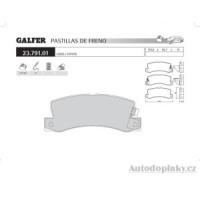 GALFER zadní brzdové desky typ FDA 1045 LEXUS/OFF-ROAD RX 300 3.0i V6 -- rok výroby 98- ( brzdový systém AKE )