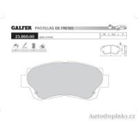 GALFER přední brzdové desky typ FDT 1055 LEXUS SC 300 3.0i -- rok výroby 92-97 ( brzdový systém AKE )
