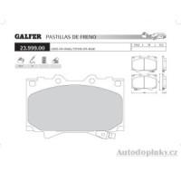 GALFER přední brzdové desky typ FDT 1055 LEXUS/OFF-ROAD LX 470 4.7i V8 32V -- rok výroby 98- ( brzdový systém SUM )